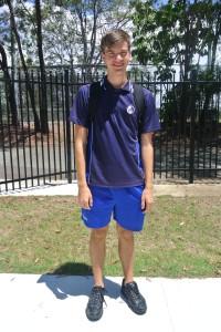 Emil in seiner Schuluniform