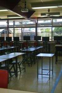 Ein Klassenzimmer der Schule