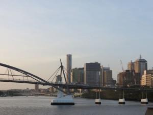Brisbane in der Dämmerung